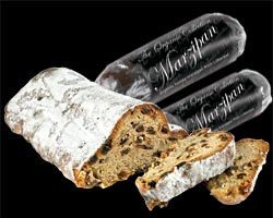 organic stollen and marzipan